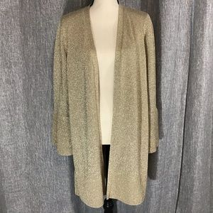 🎄Calvin Klein Gold Holiday Bell Sleeve Cardigan